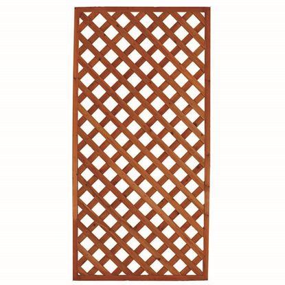 Immagine di Grigliato in legno, modello pesante, 90x3,5xh180 cm