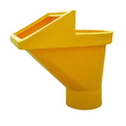 Immagine di Tramoggia scarica detriti, di colore giallo, dimensioni 690x960xh1015 mm