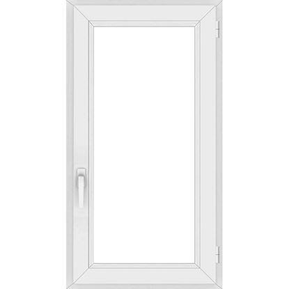 Immagine di Finestra pvc 1 anta 6 camere, doppio vetro, 60x120 cm, colore bianco