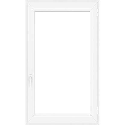 Immagine di Finestra pvc 1 anta 6 camere, doppio vetro, 80x120 cm, colore bianco