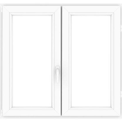Immagine di Finestra pvc bianca 6 camere, 2 ante, battente, doppio vetro, 120x140 cm
