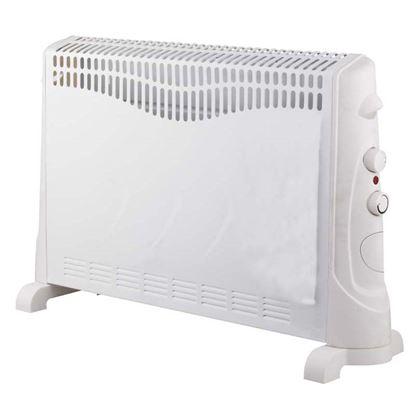 Immagine di Termoconvettore da pavimento 3 regolazioni di potenza 750/1250/2000 W, termostato regolabile, appendibile a parete, protezione anti surriscaldamento, 59,5x20x42 cm