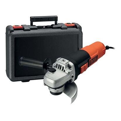 Immagine di Smerigliatrice angolare Black & Decker, KG911K-QS, 900 W, mola Ø 115 mm, impugnatura supplementare, chiave, peso 3,0 kg