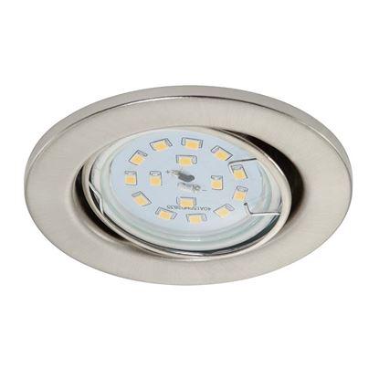 Immagine di Kit 3 Faretti LED incasso 3W orientabili, Ø8,6 cm, GU10, 270 lumen, nickel satinato
