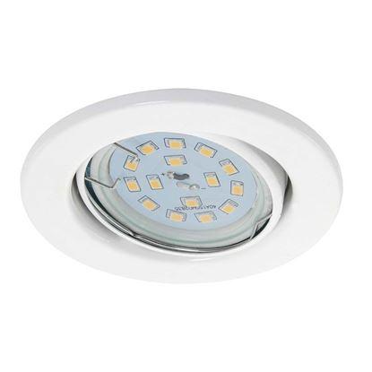 Immagine di Kit 3 Faretti LED incasso 3W orientabili, Ø8,6 cm, GU10, 270 lumen, nickel bianco
