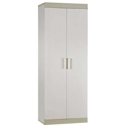 Immagine di Armadio alto 4 ripiani, con piedini, bicolore, portata 15 kg, 63x175x39 cm