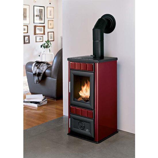 Stufa a legna Royal King New 9 kW, volume riscaldabile 170 m³, resa ...