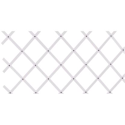 Immagine di Traliccio estensibile plastica bianca, 100x300 cm