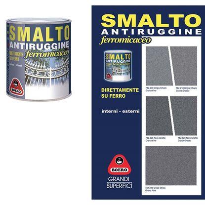 Immagine di Smalto antiruggine, grana grossa, 0,750 lt, colore nero