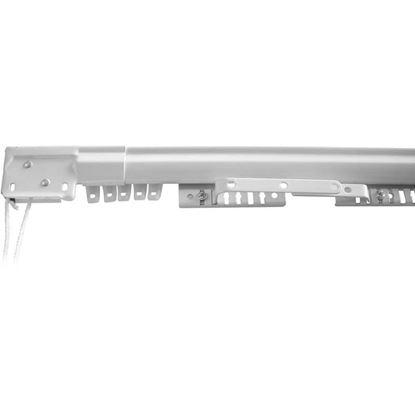 Immagine di Scorritenda Easy, binario estensibile, colore bianco, 71/122 cm