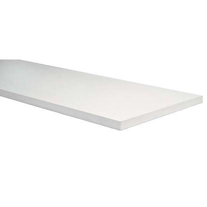 Immagine di Mensola, stondata bianca, 25x250x600 mm