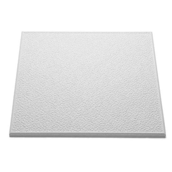 Immagine di Pannello per soffitto, in polistirolo, 10 mm, 50x50 cm, confezione 8 pezzi, pari a 2 m², colore bianco, T 101