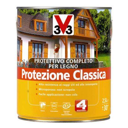 Immagine di PROTETTIVO A SOLVENTE V33, EXPERT, PER LEGNO, PROTEGGE IL LEGNO DA MUFFE E AGENTI DETERIORANTI, 2,5 LT, CASTAGNO SCURO