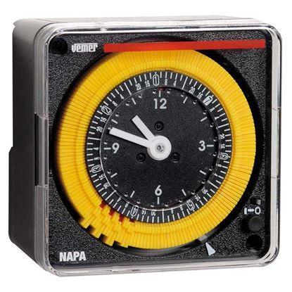 Immagine di Orologio meccanico settimanale, 72x72 mm, alimentazione 230 V