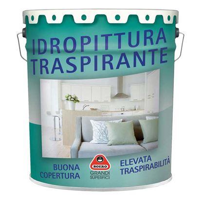 Immagine di IDROPITTURA TRASPIRANTE, BUONA COPERTURA, ELEVATA TRASPIRABILITÀ, 14 LT