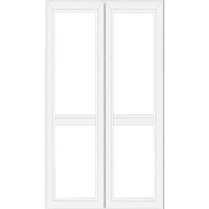 Immagine di Portafinestra pvc 2 ante 6 camere, doppio vetro, 120x220 cm, colore bianco