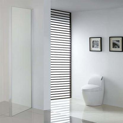 Immagine di Lato fisso Mila per porte, profilo cromato, cristallo trasparente, 80x195 cm