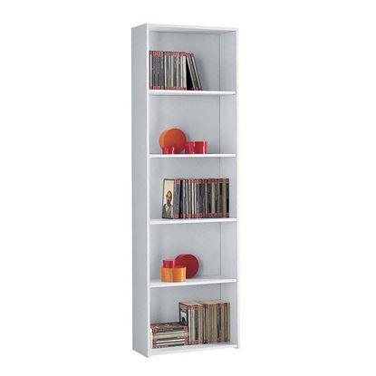 Immagine di Libreria 5 vani, struttura malaminico, finiture bianco